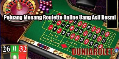 Peluang Menang Roulette Online Uang Asli Resmi